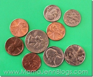 Coins for Guess the Coins Math Game
