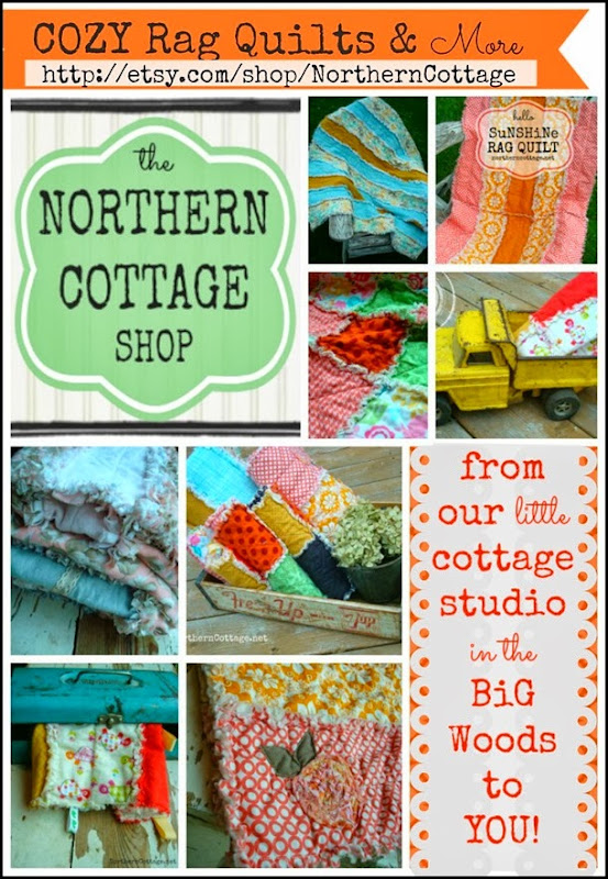etsy rag quilt collage {NorthernCottage}