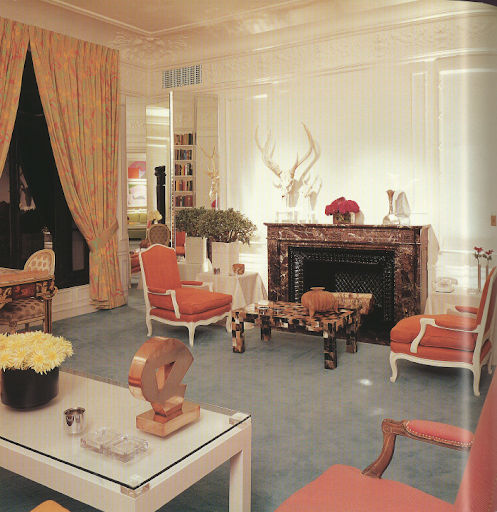 David Hicks' Suite at the St. Regis Hotel in New York. Hicks decorated the suite in 1970.