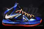 nike lebron 10 ps elite blue black 1 07 Release Reminder: Nike LeBron X P.S. Elite Superhero