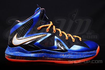 nike lebron 10 ps elite blue black 1 07 Nike LeBron X P.S. Elite Superhero   New Photos