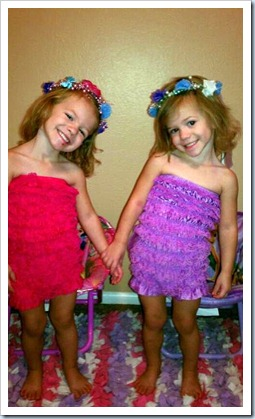 maddie and abbie dressed up