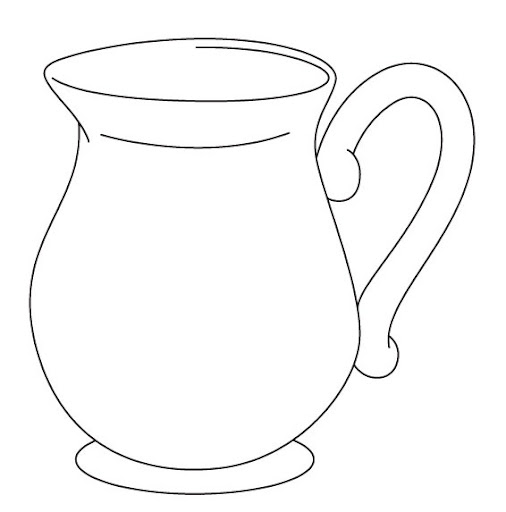 Line Drawing Jug : Free coloring pages of jug