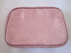 forever 21 pink glitter pouch, bitsandtreats