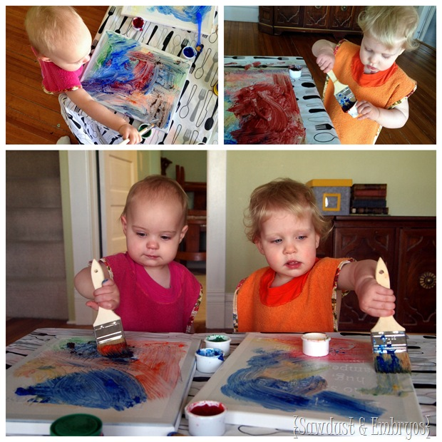 Fingerpainting Craft {Sawdust and Embryos}
