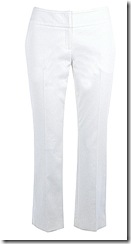 Karen Millen white cropped trouser