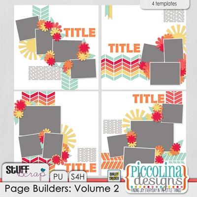 Piccolina Designs Page Builders Volume 2