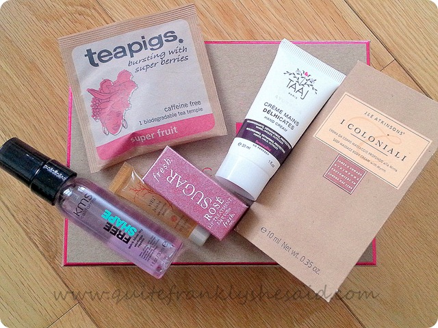January Birchbox beauty box contents