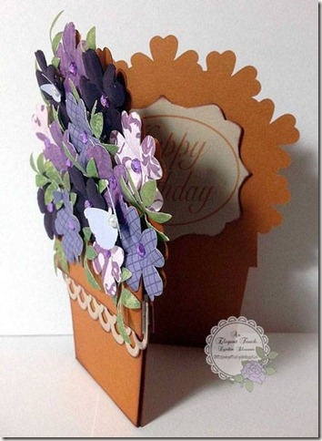 flower pot opened card
