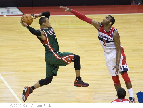 'Monta Ellis, John Wall' photo (c) 2013, Keith Allison - license: http://creativecommons.org/licenses/by-sa/2.0/