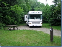 4495 Bass Lake Provincial Park - our motorhome in camp site #48