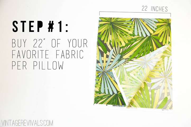 How To Sew A Simple Envelope Pillow Tutorial vintagerevivals
