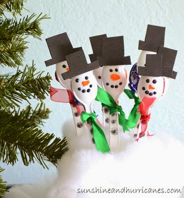 Spoon Snowmen