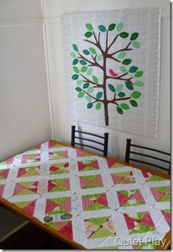 Family tree quilt and signature quilt