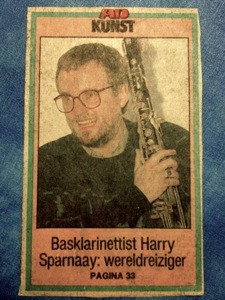 Harry Sparnaay pic from Newspaper