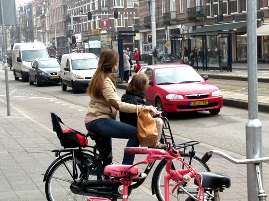 Amsterdam school pick-ups by bike