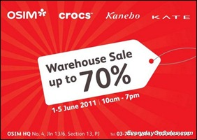 Osim-Crocs-Kanebo-Kate-Warehouse-sales-2011-EverydayOnSales-Warehouse-Sale-Promotion-Deal-Discount