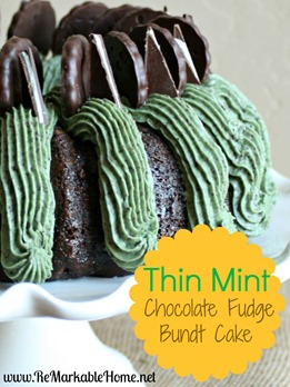 Thin Mint Bundt Cake