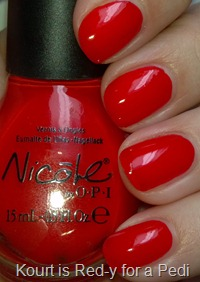 Nicole Kourt is Red-y for a Pedi