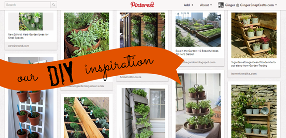 Garden Ideas On Pinterest this is a cool veggie garden idea Herb Garden Pinterest Board From Gingersnapcrafts