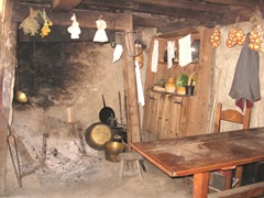 Plimoth Plant pilgrim kitchen fireplace