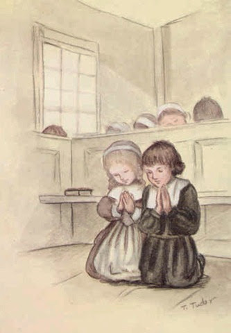 tasha tudor praying pilgrims