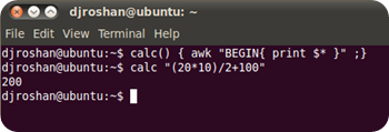Command line Calculator on Unix, Linux and Mac