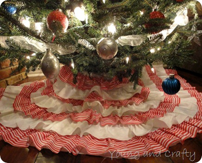 diy candy cane tree skirt