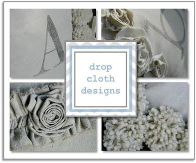 drop cloth design sidebar button with frame