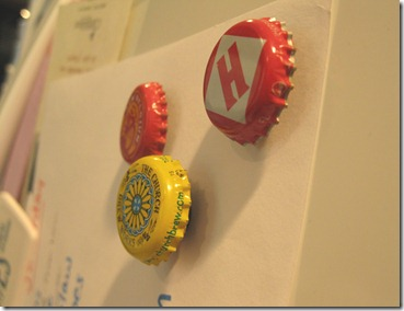 bottle cap magnets. upcycled beer bottle tops (1)