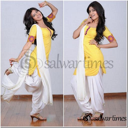 Patiala dress white and black