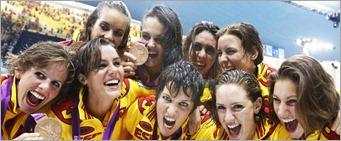 Las-integrantes-del-equipo-español de natacion sincronizada