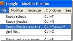 Firefox 20 Finestra anonima