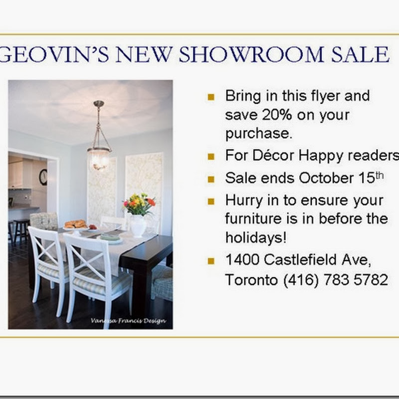 Sponsor News:  Geovin Furniture Sale