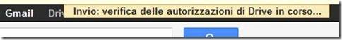 Gmail invio email controllo delle autorizzazione di Drive