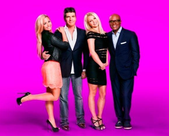 The X Factor USA judges - Britney Spears, Demi Lovato, Simon Cowell and LA Reid