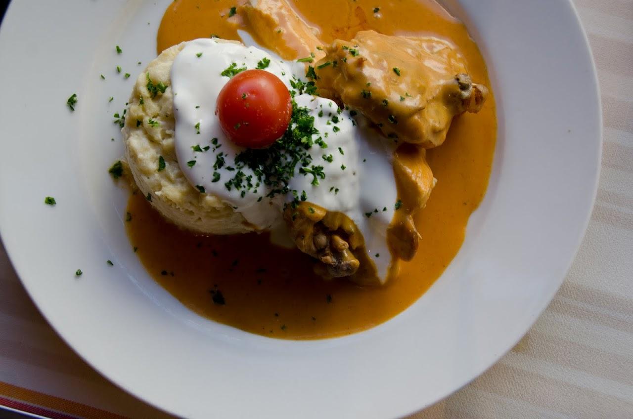 Chicken paprikash at Menza Etterem