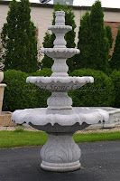 4-Tier Acanthus Self Contained Fountain, Wild Rose