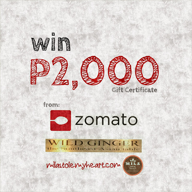 Zomato Wild Ginger Giveaway
