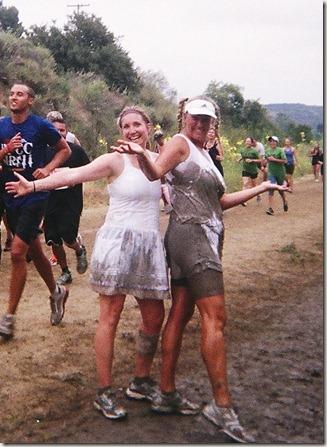 Camp Pendleton Mud Run Jen and Stacey having fun