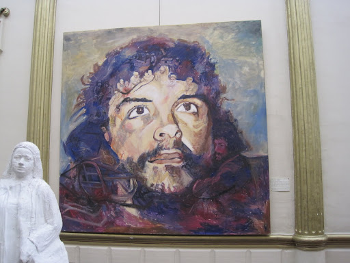 Mural of Che Guevara at the Bolivian Contemporary Art Museum