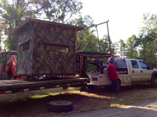 loading deer stand
