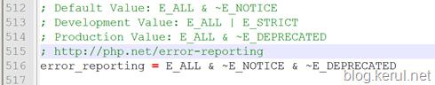 error_reporting dalam PHP.INI