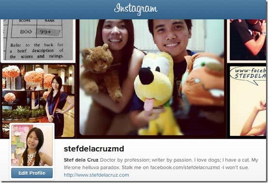 Stef dela Cruz on Instagram