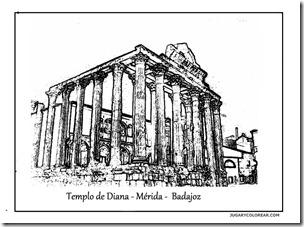 templo-de-diana-m-rida-badajoz jugarycolorear 1 1