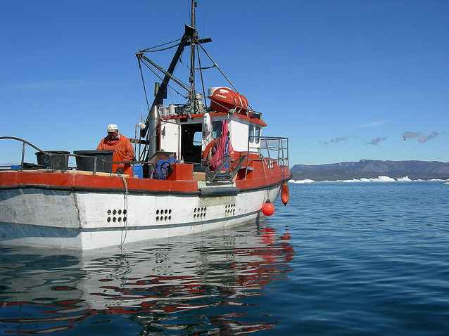 Fishing boat in Ilulissat, Greenland, 2 July 2008. Greenlanders are highly exposed to mercury because their diet is almost completely reliant on contaminated marine life. Photo: Kristine Riskær / flickr