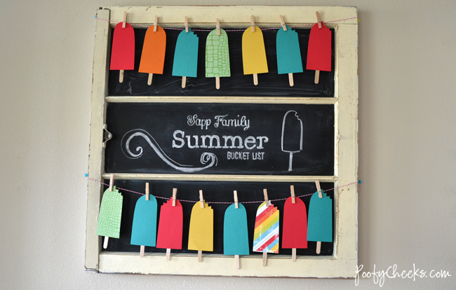 Popsicle Summer Bucket List Banner - free cut templates #summer #popsicle