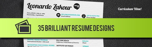 Creative CV Resumes Design to Power Up the Potential Contacted