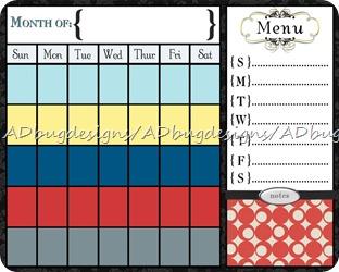 Laina Calendar 16x20