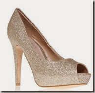 Carvela Gold Glitter Court Shoe